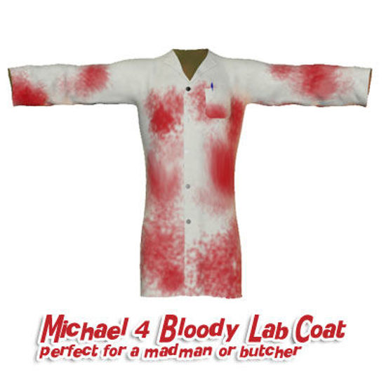 Picture of Bloody Lab Coat for Michael 4