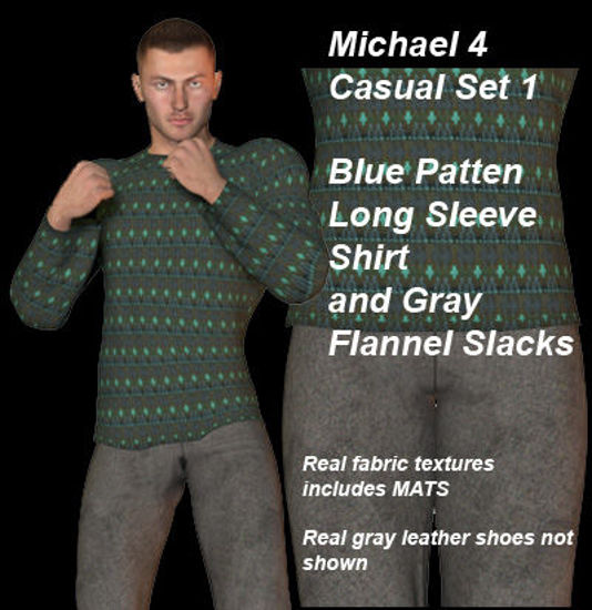 Picture of Blue and Gray Casual Set 1 for Michael 4