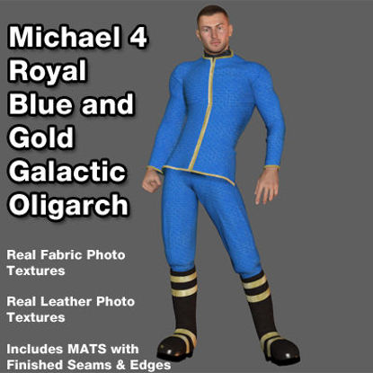 Picture of Royal Blue and Gold Galactic Oligarch