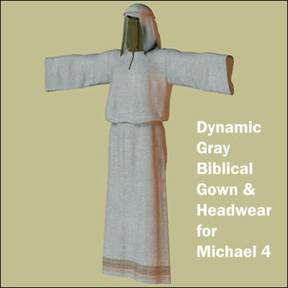Picture of Dynamic Gray Biblical Gown and Headwear for Michael 4
