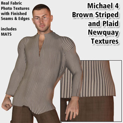 Picture of Brown Stripe and Plaid Newquay Textures for Michael 4