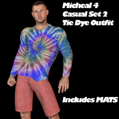 Picture of Michael 4 Tie Dye Casual Set 2