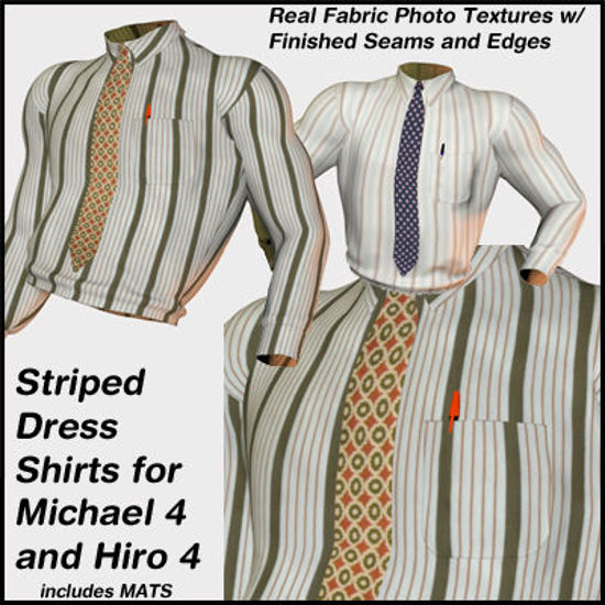 Picture of Striped Dress Shirts With Ties for Michael 4 and Hiro 4