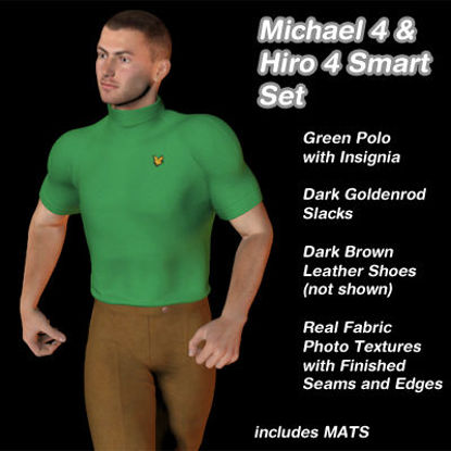 Picture of Green and Goldenrod Smart Set for Michael 4 and Hiro 4