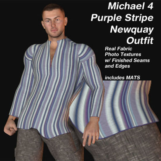 Picture of Purple Stripe Newquay Outfit for Michael 4