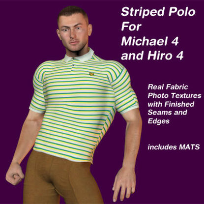 Picture of Striped Polo for Michael 4 and Hiro 4