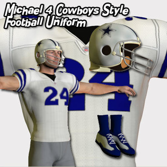 Picture of Michael 4 Cowboys Style Football Uniform
