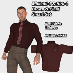 Smart Set Brown and Plaid for Michael 4 and Hiro 4