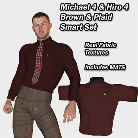 Picture of Smart Set Brown and Plaid for Michael 4 and Hiro 4