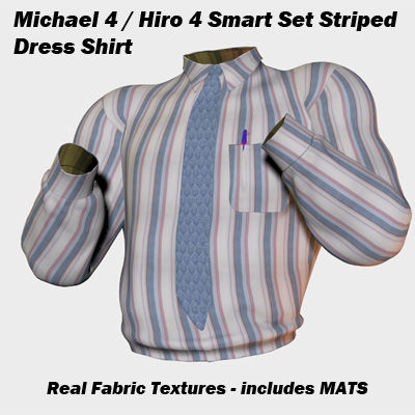 Picture of 3 Color Striped Dress Shirt for Michael and Hiro 4