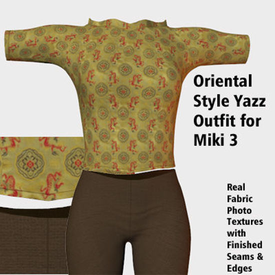 Picture of Oriental Yazz Outfit Textures for Miki 3