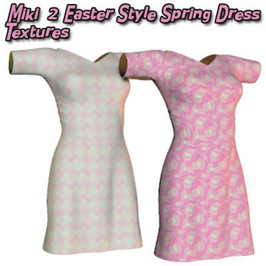 Picture of Miki 2 Easter Style Spring Dress Textures