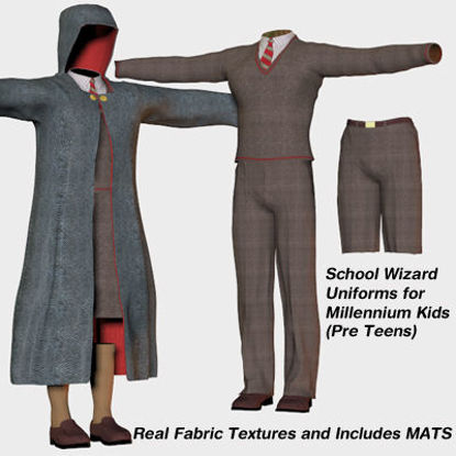 Picture of School Wizard 2 Outfits for Millennium Pre-Teen Kids