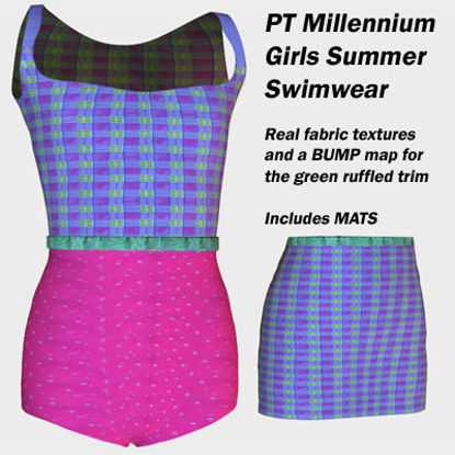 Picture of Pink and Purple Swimwear for PT Millennium Girls
