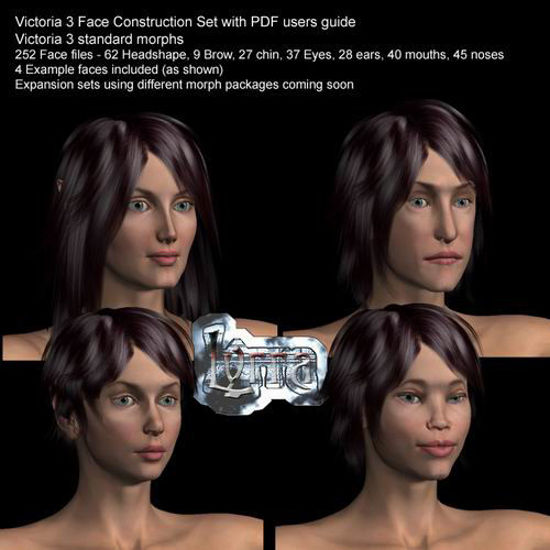 Picture of Vicky 3 face shaping set with PDF users guide