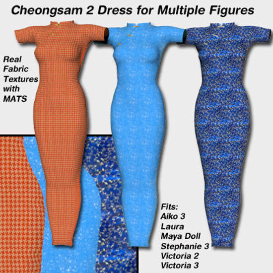 Picture of Cheongsam 2010 Maya Doll - Poser / StudioMaya3d ( MD )