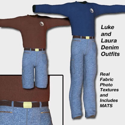 Picture of Luke and Laura Denim Knit Set