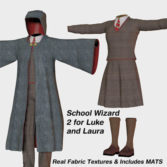 Picture of School Wizard 2 Outfits for Luke and Laura