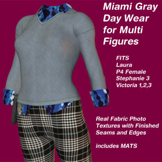 Picture of Gray and Plaid Miami Day Wear - Material Pack Add-On for Miami Day Wear