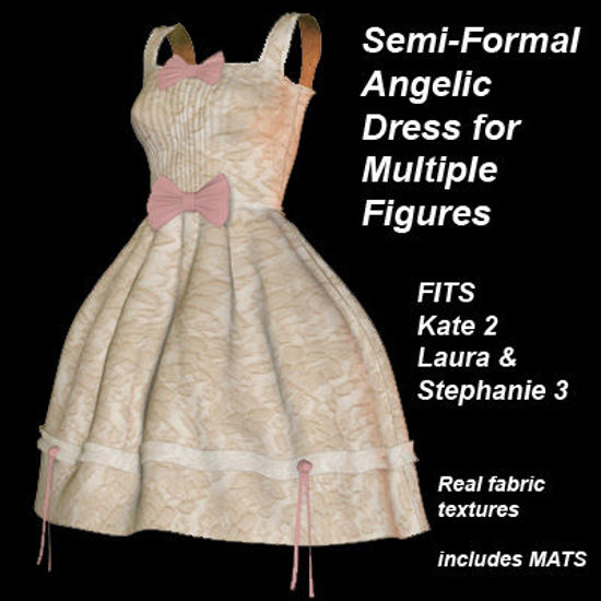 Picture of Semi Formal Angelic Dress for Multiple Figures - SFAngelicMulti