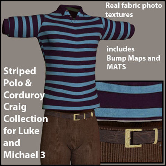 Picture of Blue Polo and Corduroy Craigs Collection Outfit for Luke and Michael 3