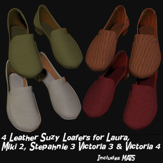 Picture of 4 Leather Suzy Loafers for Victoria 4 - Poser / Daz 3D Studio V4