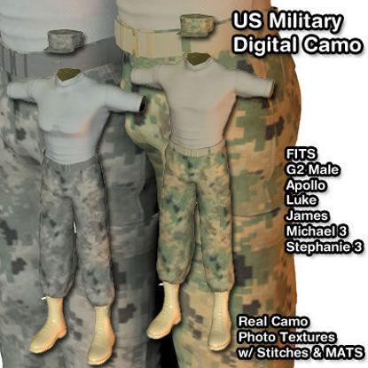 Picture of US Military Digital Camo for Multiple Figures - AM