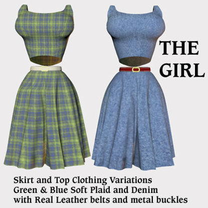 Picture of The Girl Skirt and Top Clothing Textures