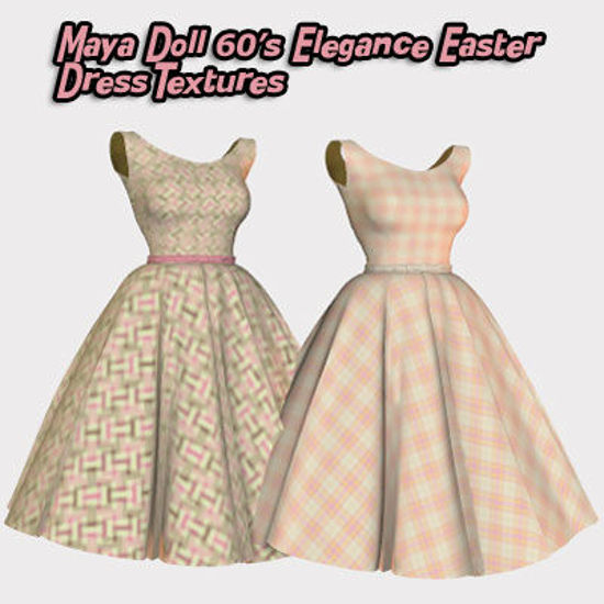 Picture of Maya Doll 60's Elegance Easter Dress Textures