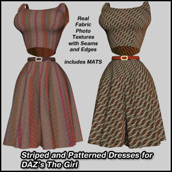 Picture of Striped and Patterned Dresses For DAZ's The Girl