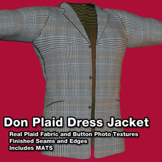 Picture of Don Poser 5 Plaid Dress Jacket