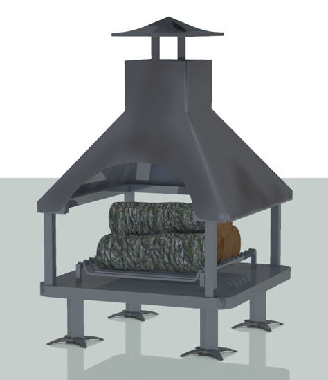 Picture of Outdoor Fireplace and Log Models