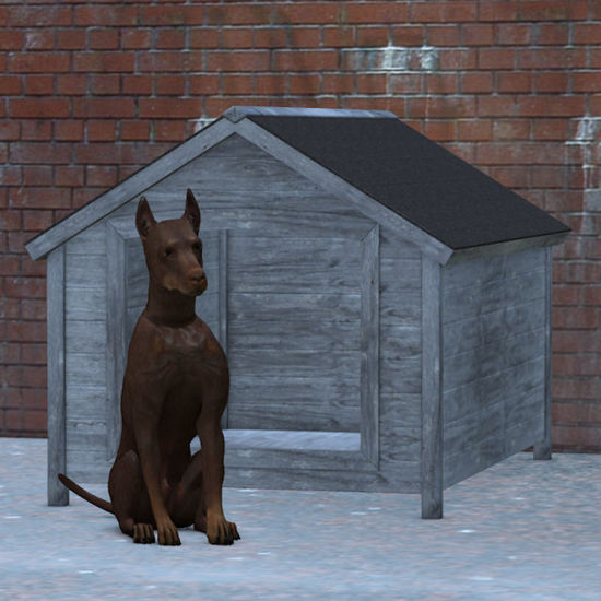 Picture of A Dog Kennel Model
