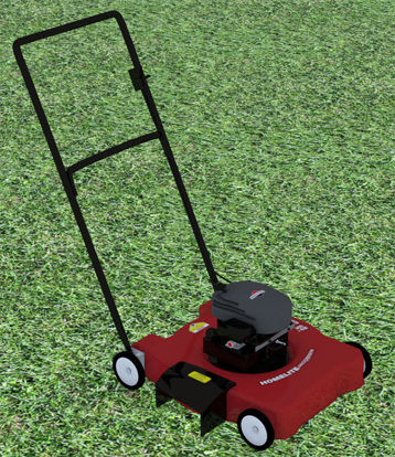 Picture of Push Lawn Mower Model with Movements