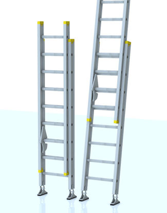 Picture of 16 Foot Extension Ladder Model with Movements