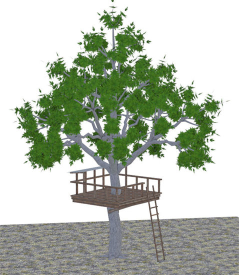 Picture of Kid's Tree Fort Model