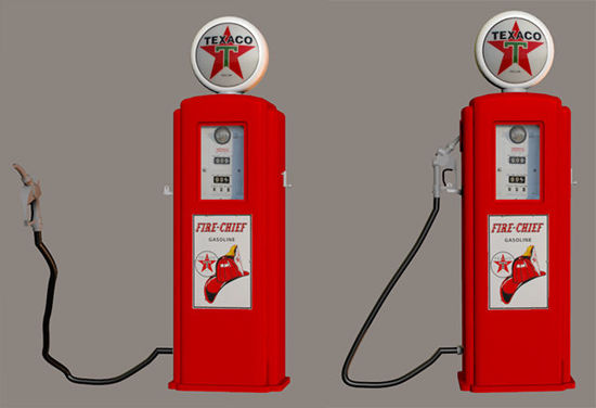 Picture of Standalone Vintage Gas Pump with Movements