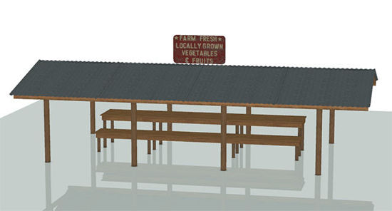Picture of Standalone Produce Stand Model