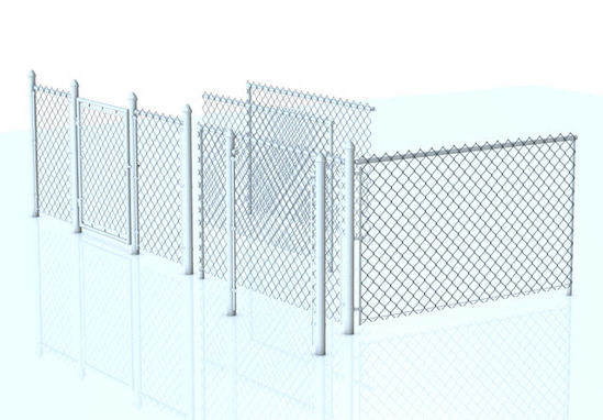 Picture of Modular Chain Link Fence Model Set - Poser and DAZ Studio Format