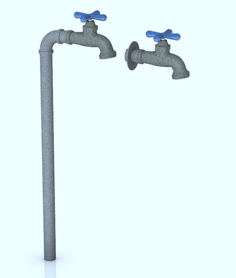 Picture of Outdoor Water Faucet Models - Poser and DAZ Studio Format