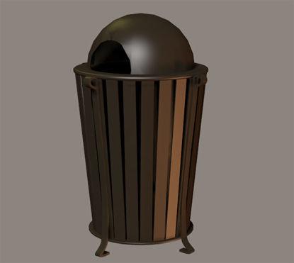 Picture of City Street Trash Receptacle Model