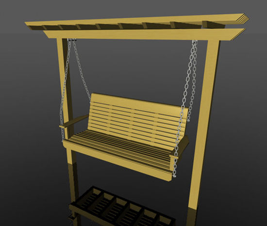 Picture of Outdoor Wooden Trellis and Swing Prop