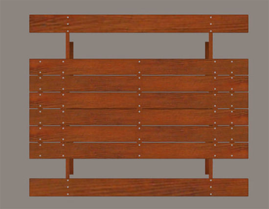 Picture of Redwood Picnic Table Model