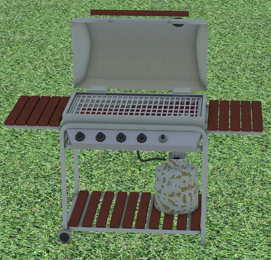 Picture of Outdoor Gas Grill Prop