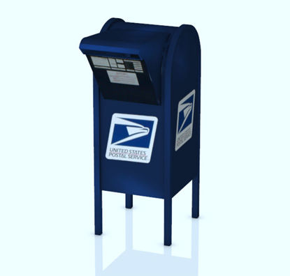 Picture of US Post Office Mailbox Model