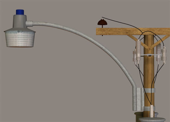 Picture of Streetlight Model for Utility Pole Model Set