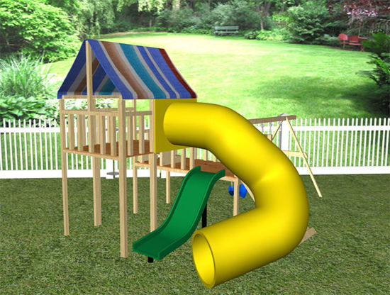 Picture of Children's Outdoor Swing and Play Set