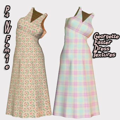 Picture of P4 Female Georgette Easter Dress Textures