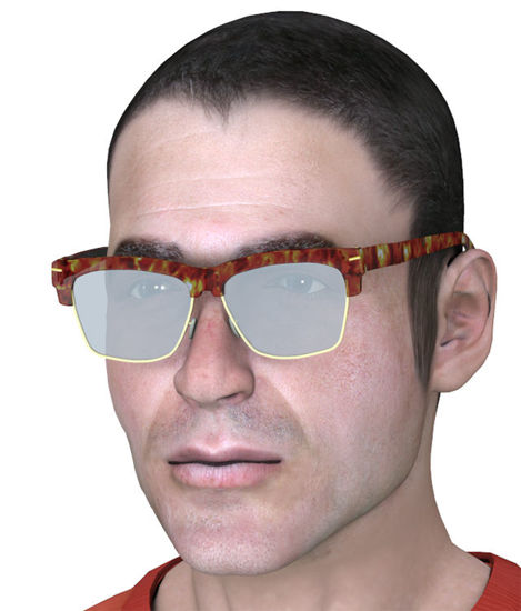 Picture of Vintage Eyeglass Model for All Poser Figures - Poser and DAZ Studio Format