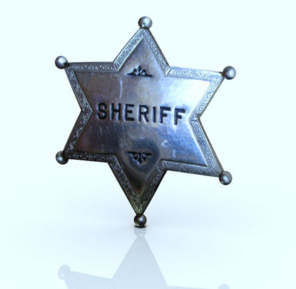 Picture of Old West Sheriff's Badge Prop
